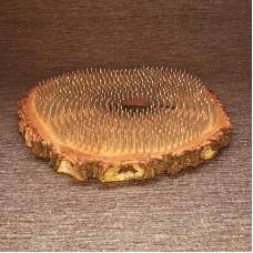 Доска садху с гвоздями на основе спила берёзы.